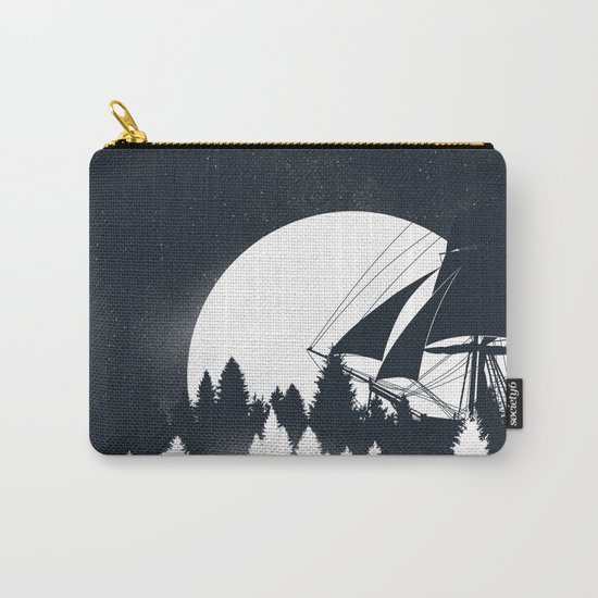 Forest Wave Carry-All Pouch