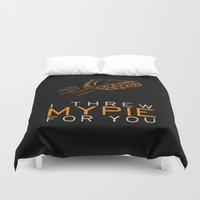 oitnb Duvet Covers featuring I Threw My Pie for You 2 - Orange is the New Black by kirstenariel