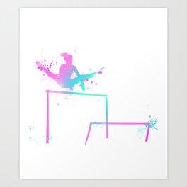 Gymnast - Bars Art Print