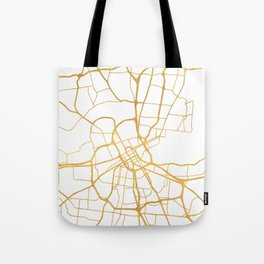 NASHVILLE TENNESSEE CITY STREET MAP ART Tote Bag
