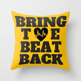 Bring the Beat Back Throw Pillow