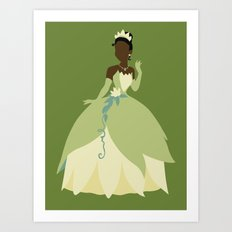 Tiana from Princess and the Frog Art Print