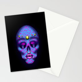 Pierced Skull Stationery Cards