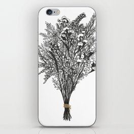 Dry Bouquet with Gold String iPhone Skin