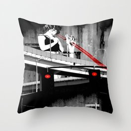 Stop the Freeway Overpass Scales Madness! Throw Pillow