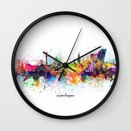 copenhagen skyline artistic Wall Clock