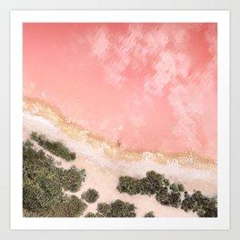 iOS 11 Rose Gold iPad background Art Print
