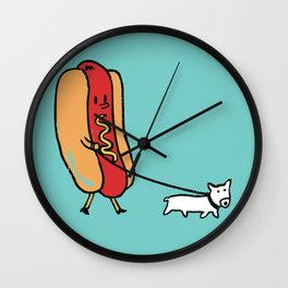 Double Dog Wall Clock