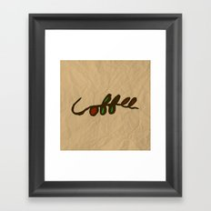 Coffee Branch Framed Art Print