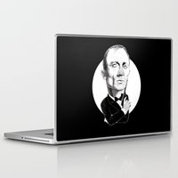 james bond Laptop & iPad Skins featuring James Bond by drawgood