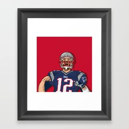 Tom Brady Framed Art Print