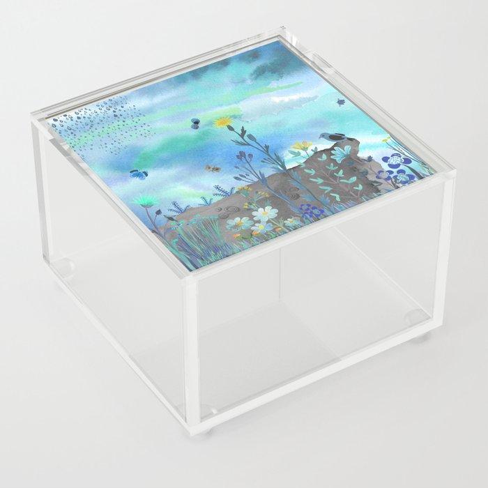 Blue Garden I Acrylic Box
