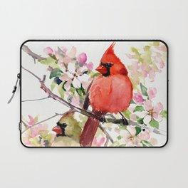 Cardinal Birds and Spring, cardinal bird design Laptop Sleeve