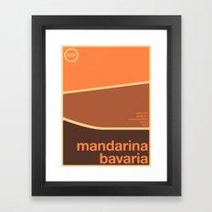 mandarina bavaria single hop Framed Art Print