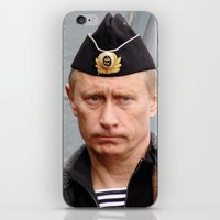 putin iPhone & iPod Skins featuring Putin seaman. by Mikhail Zhirnov