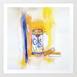 Colt 45 and 2 Zig Zags (An ode to Afroman) Art Print