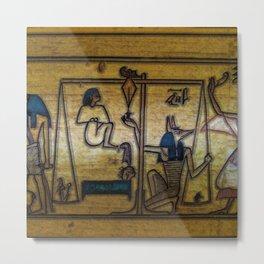 Anubis  weighing the heart Metal Print