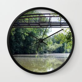 Summer under the Bridge Wall Clock