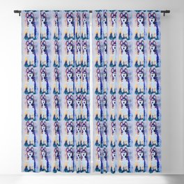 Tika'ani our Siberian Husky Blackout Curtain