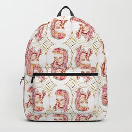 Pink blogger with snakes in her hair Backpack