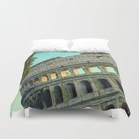 gladiator Duvet Covers featuring Rome Collosseum Painted  by Titano