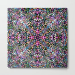 Abstract Threads of Color Metal Print