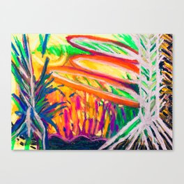 Sunsetting behind the Thicket Canvas Print