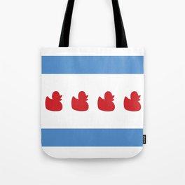 Chicago Flag - Duckies  Tote Bag