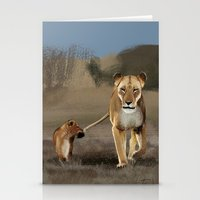 lions Stationery Cards featuring Lions by Elena Napoli
