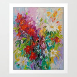 The flower dance  Art Print