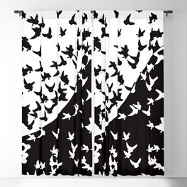 Flocks of birds. Allegory of day and night Blackout Curtain