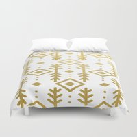 nordic Duvet Covers featuring GOLD NORDIC by Nika
