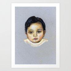 R-Portrait  Art Print