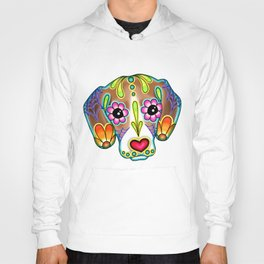 Beagle - Day of the Dead Sugar Skull Dog Hoody