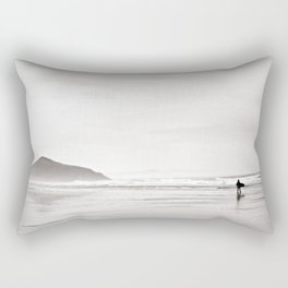 Morning Surf, near Tofino, BC, Canada Rectangular Pillow