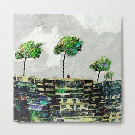 the story of green trees Metal Print