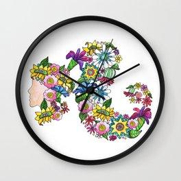Blooming Ponytail Wall Clock