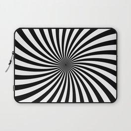 Black And White Spiral Stripes Laptop Sleeve
