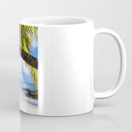 Palmtree on White Exotic Beach Coffee Mug