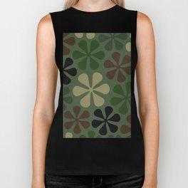 Abstract Flower Camouflage Biker Tank
