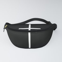 White cross Fanny Pack