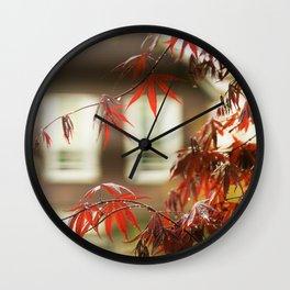 Urban Red Maple Wall Clock