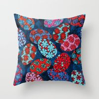 easter Throw Pillows featuring Easter by Helene Michau