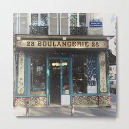 Blue Bakery, Paris - La Boulangerie  Metal Print
