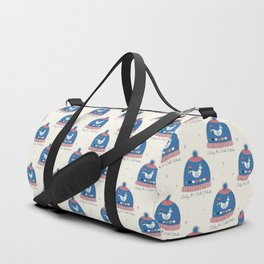 Baby it's cold outside- winter hat Duffle Bag