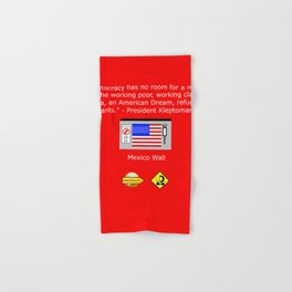 The Plutocracy in America Hand & Bath Towel