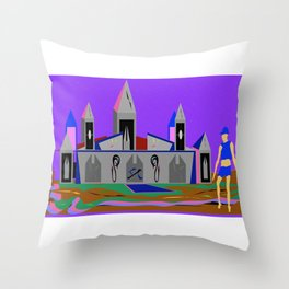 Paranormal Camelot Throw Pillow