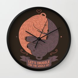 Let's Snuggle For The Holy Day Wall Clock