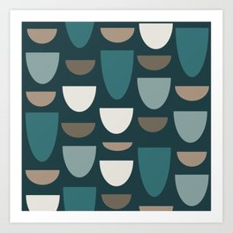 Turquoise Bowls Art Print