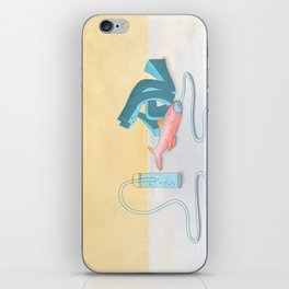 Cool Cat Blue - Helping the helpless iPhone Skin